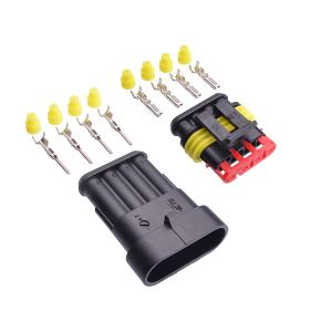 Superseal connector set 4-pin (pins & seals included)