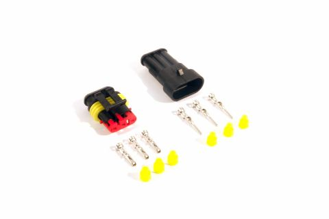 Superseal connector set 3-pin (pins & seals included)