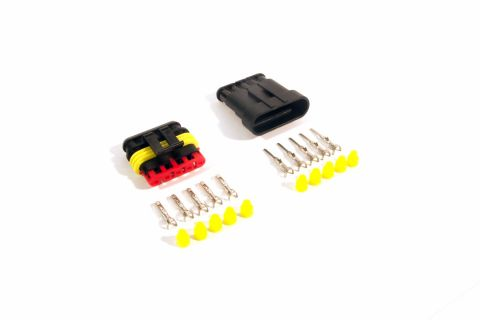 Superseal connector set 5-pin (pins & seals included)
